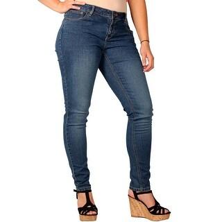 Zana-Di Womens Junior Plus Fashion Jeans, Medium Sandwash