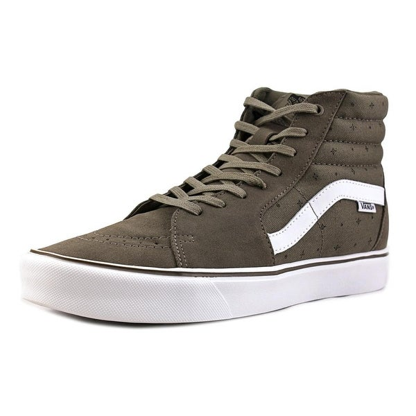 9ad599e0fb Shop Vans Sk8 Hi Lite Men Round Toe Canvas Gray Skate Shoe - Free ...