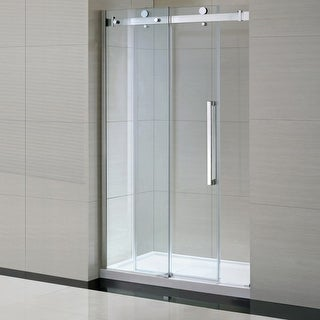 "Miseno MSDC4882 82-3/10"" High x 48"" Wide x 32"" Deep Frameless Shower Door for Alcove Installations with Clear Glass Panels -"