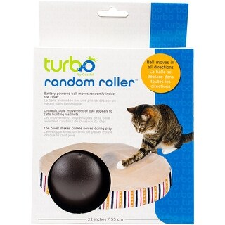"Turbo 22"" Random Roller Cat Toy-"