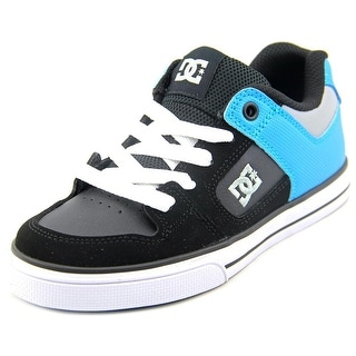 DC Shoes Pure Youth Round Toe Leather Black Skate Shoe