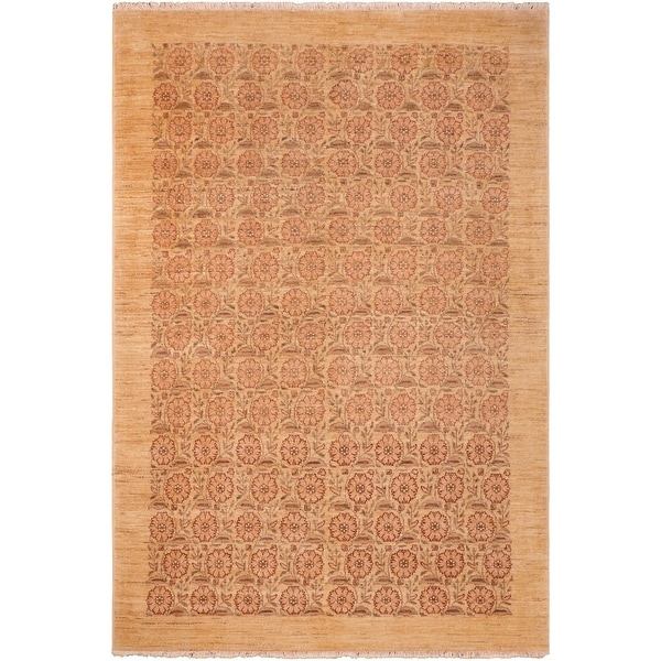 """Shabby Chic Ziegler Jacquali Hand Knotted Area Rug -6'2"""" x 9'2"""" - 6 ft. 2 in. X 9 ft. 2 in.. Opens flyout."""