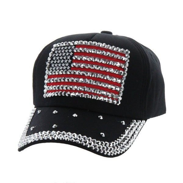 Top Headwear Studded USA Flag Baseball Cap. Opens flyout.