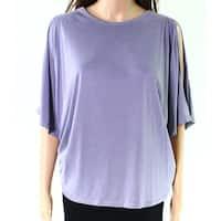 Splendid Purple Split-Sleeve Women's Size Medium M Knit Top