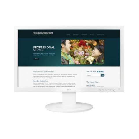 """LG 24MB35V-W 1080p 23.5"""" IPS Monitor,White - White"""