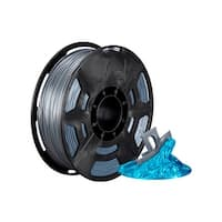 Monoprice Hi-Gloss 3D Printer Filament PLA 1.75mm - 1kg/spool - Gray, Works With All PLA Compatible 3D Printers