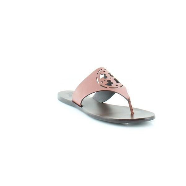 154b585819f15d Shop Tory Burch Zoey Women s Sandals   Flip Flops Cognac Cream - 6.5 ...