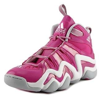 Adidas Crazy 8 Men Round Toe Leather Pink Basketball Shoe