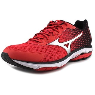 Mizuno Wave Rider 18 Women Round Toe Synthetic Red Running Shoe