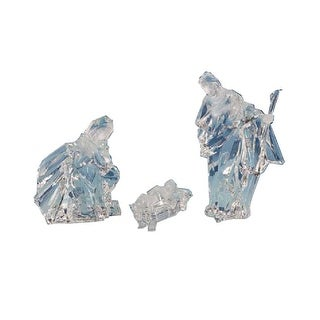 """Pack of 2 Icy Crystal Religious Holy Family Christmas Nativity Figurines 8"""" - N/A"""