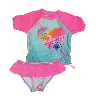 Disney Toddler Girls 2PC Swimsuit Finding Dory Tee Bottoms Pink 2T