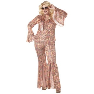 Plus Size Women's Disco Costume (3 options available)