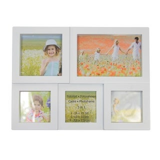 """11.5"""" White Multi-Sized Puzzled Photo Picture Frame Collage Wall Decoration"""