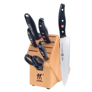 ZWILLING J.A. Henckels TWIN Signature 7-pc Knife Block Set - Black/Stainless Steel
