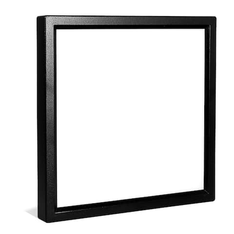 Luxrite 6 Inch Square Surface Mount LED Ceiling Light, 15W, 1000 Lumens, Dimmable, Wet Rated, Energy Star, Black Finish