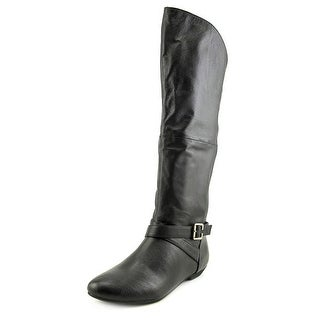 Chinese Laundry Z-Noble Women Round Toe Leather Black Knee High Boot