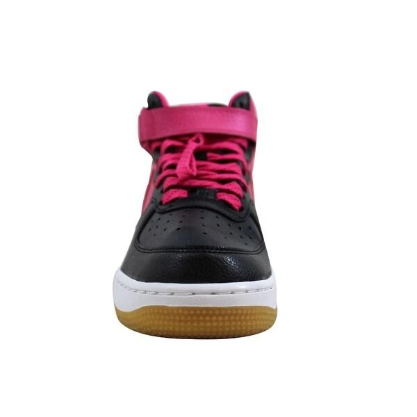 Shop Nike Grade School Air Force I 1 Mid BlackVivid Pink