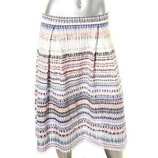 Aqua Womens Pattern Pull On Flare Skirt - L