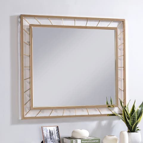 Furniture of America Anjah Contemporary Gold 5mm Wall Mirror