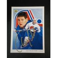 Signed Nolan Owen Quebec Nordiques 1992 Upper Deck Hockey Card autographed