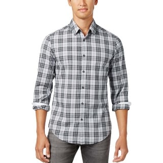 Hugo Boss Green Label Briar Valiant Plaid Long Sleeve Shirt Grey