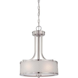 Nuvo Lighting 60/4686 Fusion Three Light Pendant with Frosted Glass