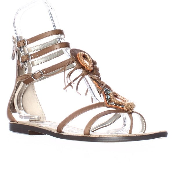 1a2c39e26 Shop Sam Edelman Genesee Gladiator Fringe Beaded Sandals - Saddle ...