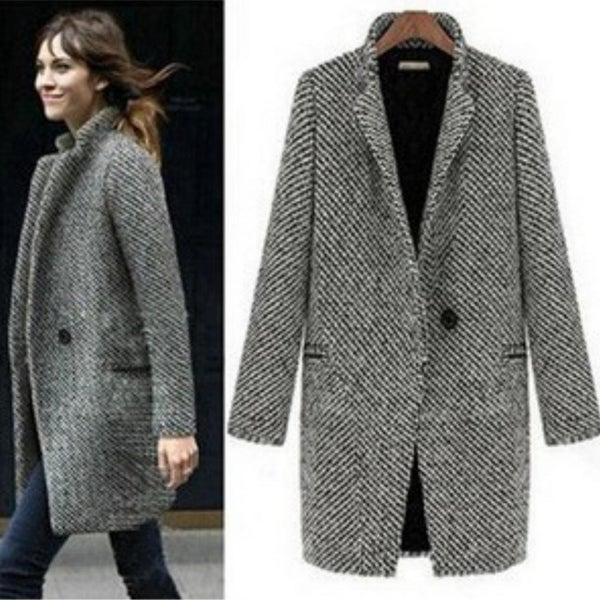Fashion Wool Women Medium-Long Winter Jacket Women Woolen Outerwear. Opens flyout.