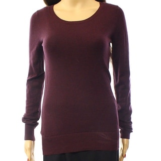 Abound NEW Purple Women's Size Small S Ribbed Hem Scoop Neck Sweater