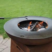 Sunnydaze Black Steel Fire Pit Poker 16 Inch Long