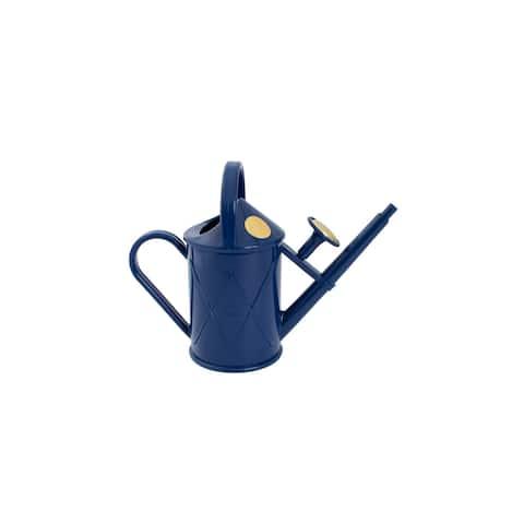 Haws Heritage 2 Pint Dark Blue Plastic Watering Can - 2 Pint
