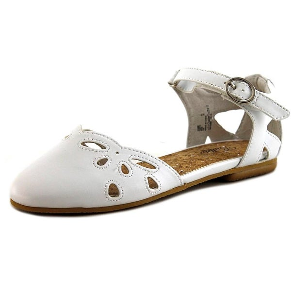 Balleto by Jumping Jacks Sadie Youth Round Toe Synthetic White Flats