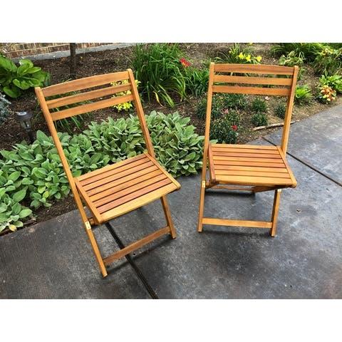 International Caravan Royal Fiji Folding Patio Dining Chair (Set of 2)