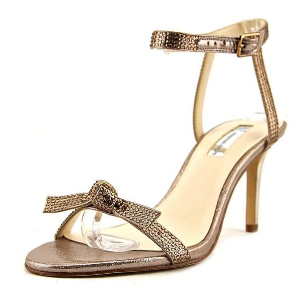 INC International Concepts Laniah Women Open Toe Canvas Bronze Sandals