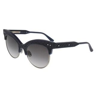 Bottega Veneta BV0014/S 004 Blue-Smoke Cateye Sunglasses