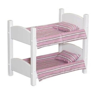 Lapps Toys & Furniture 006 W Wooden Doll Bunk Bed, White