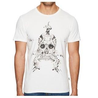 Just Cavalli NEW White Mens Size Medium M Crewneck Graphic Tee T-Shirt