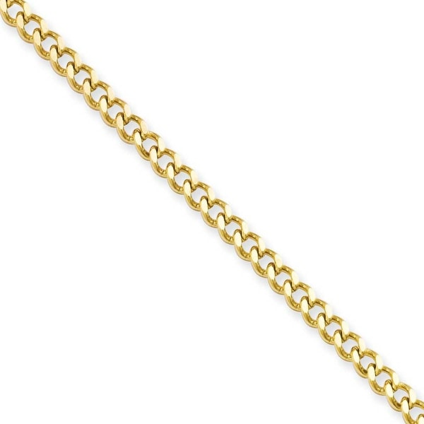 Stainless Steel IP Gold-plated 3.0mm 22in Curb Chain (3 mm) - 22 in