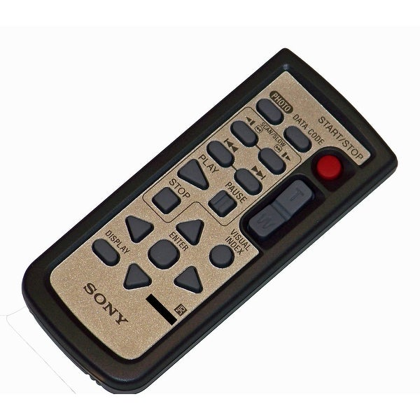 Sony Remote Control Originally Shipped With: HDR-CX6EK, HDR-CX7, HDR-SR10, HDR-SR11, HDR-SR12, HDR-SR5, HDR-SR7, HDR-SR8
