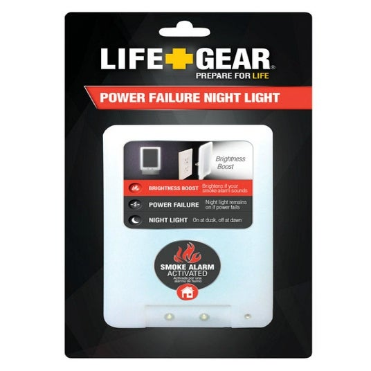 Life Gear LG24-10228-COL 4 in 1 Fire Safety Night Light