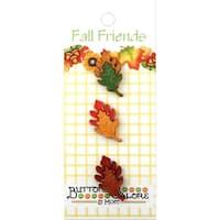 Buttons Galore Fall Buttons 3/Pkg-Oak Leaves