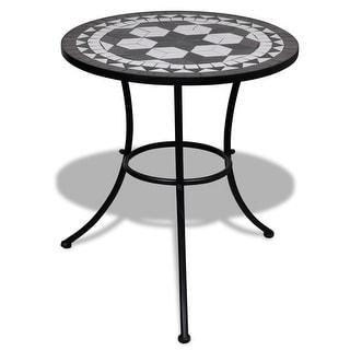 "vidaXL Mosaic Table 23.6"" Black and White"