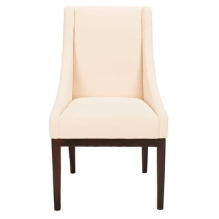 """Link to Safavieh Dining Soho Cream Linen Arm Chair - 23"""" x 26.2"""" x 39.2"""" Similar Items in Kitchen & Dining Room Chairs"""