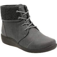 Clarks Women's Sillian Frey Ankle Boot Grey Synthetic Nubuck
