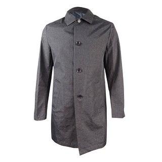 DKNY Men's Darryl Slim Fit Raincoat (40L, Gray) - gray - 40l