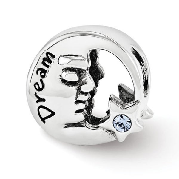 Sterling Silver Reflections Swarovski Elements Dream Moon Bead (4mm Diameter Hole)