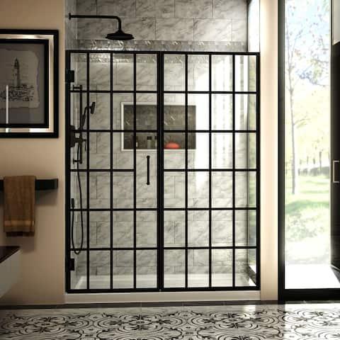"""DreamLine Unidoor Toulon 58- to 58.5-inch Frameless Hinged Shower Door - 58"""" - 58.5"""" W"""