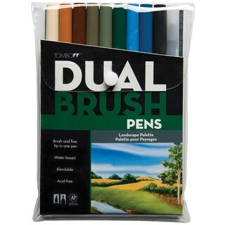 Tombow Dual Brush Markers 10/Pkg-Landscape|https://ak1.ostkcdn.com/images/products/is/images/direct/de11c723ceba4c3e7b9f40ab689ead9235959345/Tombow-Dual-Brush-Markers-10-Pkg-Landscape.jpg?_ostk_perf_=percv&impolicy=medium