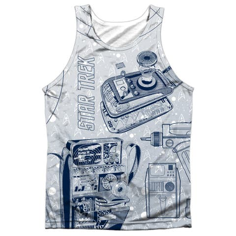 62b080d4f10f Star Trek Gadgets (Front/Back Print) Mens Sublimation Polyester Tank Top  Shirt