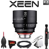 Rokinon Xeen 135mm T2.2 Lens with PL Mount with Professional Accessory Kit - black